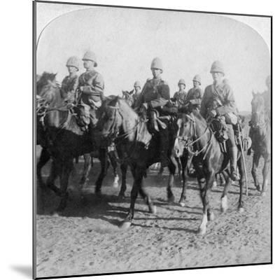 10th Hussars after Repulsing a Boer Attack, Colesberg, South Africa, 4th January 1900-Underwood & Underwood-Mounted Giclee Print