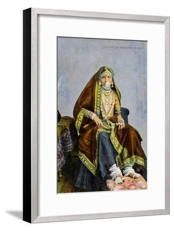 A Type of Marwaree Beauty, India, Early 20th Century--Framed Giclee Print