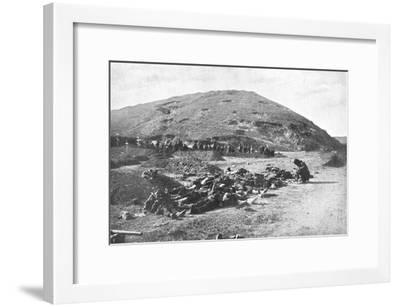 Russian Soldiers Collecting Cartridges from the Dead before Burial, Russo-Japanese War 1904-5--Framed Giclee Print