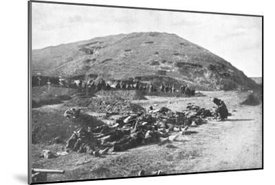 Russian Soldiers Collecting Cartridges from the Dead before Burial, Russo-Japanese War 1904-5--Mounted Giclee Print