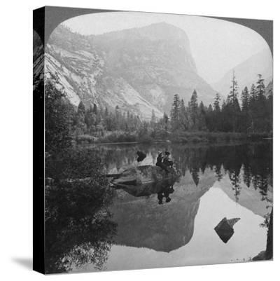 View of Mirror Lake, Looking Towards Mount Watkins, Yosemite, California, USA, 1902-Underwood & Underwood-Stretched Canvas Print