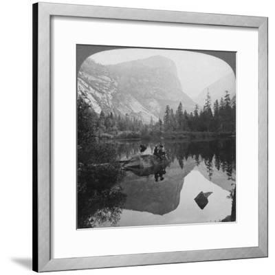 View of Mirror Lake, Looking Towards Mount Watkins, Yosemite, California, USA, 1902-Underwood & Underwood-Framed Giclee Print