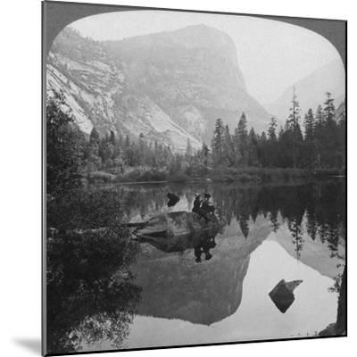 View of Mirror Lake, Looking Towards Mount Watkins, Yosemite, California, USA, 1902-Underwood & Underwood-Mounted Giclee Print