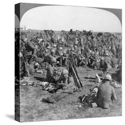 The Coldstream Company on the Great Transvaal Campaign, South Africa, Boer War, 1900-Underwood & Underwood-Stretched Canvas Print