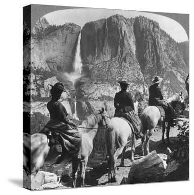 Yosemite Falls, from Glacier Point Trail, Yosemite Valley, California, USA, 1901-Underwood & Underwood-Stretched Canvas Print