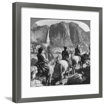 Yosemite Falls, from Glacier Point Trail, Yosemite Valley, California, USA, 1901-Underwood & Underwood-Framed Giclee Print