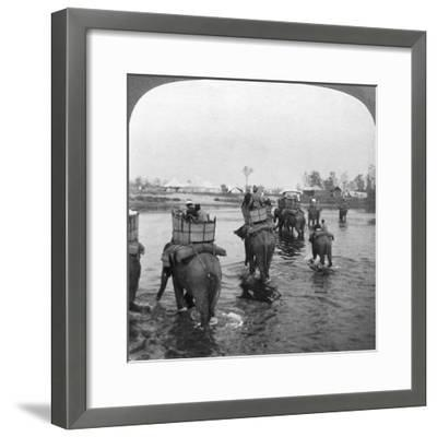 Returning to Camp after a Day's Shoot in the Behar Jungle, India, 1909-Underwood & Underwood-Framed Giclee Print