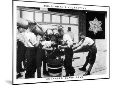 Advanced Class Boys, 1937- WA & AC Churchman-Mounted Giclee Print
