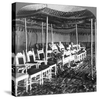 The Golden Canopy in the Durbar Tent of the Maharaja of Kashmir, Delhi, India, 1903-Underwood & Underwood-Stretched Canvas Print