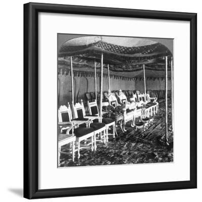 The Golden Canopy in the Durbar Tent of the Maharaja of Kashmir, Delhi, India, 1903-Underwood & Underwood-Framed Giclee Print