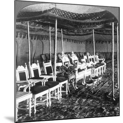 The Golden Canopy in the Durbar Tent of the Maharaja of Kashmir, Delhi, India, 1903-Underwood & Underwood-Mounted Giclee Print