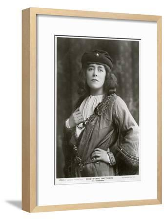 Edith Wynne Matthison, British Actress, C1907--Framed Giclee Print
