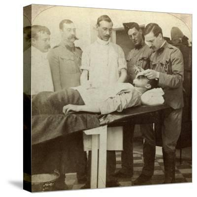Soldier Who Fell at the Front, Wynberg Hospital, Cape Town, South Africa, Boer War, 1899-1902-Underwood & Underwood-Stretched Canvas Print