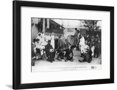 Improvised Camel, Auxiliary Hospital, Rue Lafayette, Paris, France, World War I, 1914-1918--Framed Giclee Print