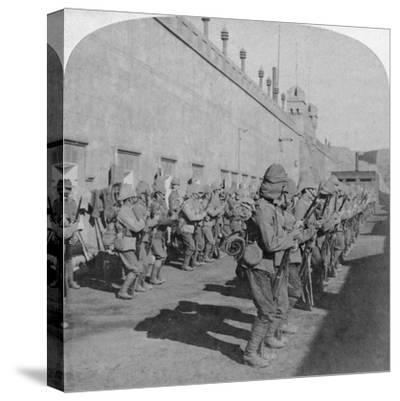 Inspection of the Cheshire Regiment in the Fort at Johannesburg, Boer War, South Africa, 1901-Underwood & Underwood-Stretched Canvas Print