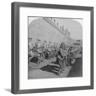 Inspection of the Cheshire Regiment in the Fort at Johannesburg, Boer War, South Africa, 1901-Underwood & Underwood-Framed Giclee Print