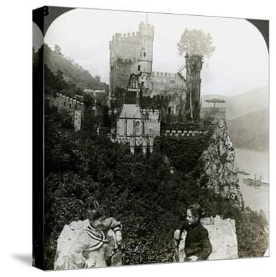Castle Rheinstein, Near Bingen, Germany-Underwood & Underwood-Stretched Canvas Print