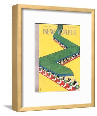 The New Yorker Cover - June 21, 1930-Gardner Rea-Framed Premium Giclee Print