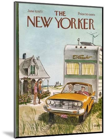 The New Yorker Cover - June 9, 1973-Charles Saxon-Mounted Premium Giclee Print
