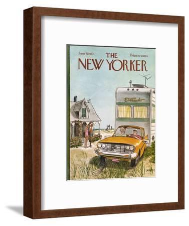 The New Yorker Cover - June 9, 1973-Charles Saxon-Framed Premium Giclee Print