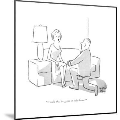 """Would that be gross or take-home?"" - New Yorker Cartoon-Chon Day-Mounted Premium Giclee Print"