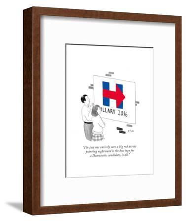 """""""I'm just not entirely sure a big red arrow pointing rightward is the best?"""" - Cartoon-Emily Flake-Framed Premium Giclee Print"""