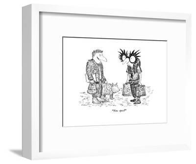"""New specs?"" - New Yorker Cartoon-Edward Koren-Framed Premium Giclee Print"