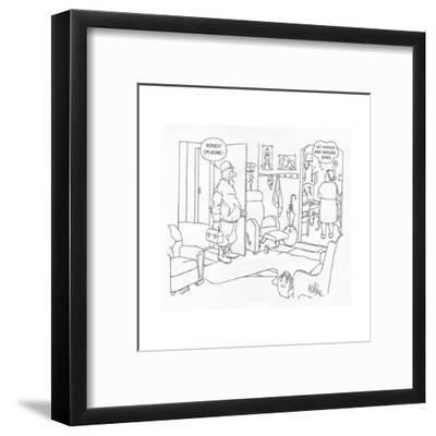 New Yorker Cartoon-George Price-Framed Premium Giclee Print