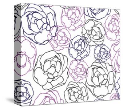 Cottage Rose Garden I-Ali Benyon-Stretched Canvas Print
