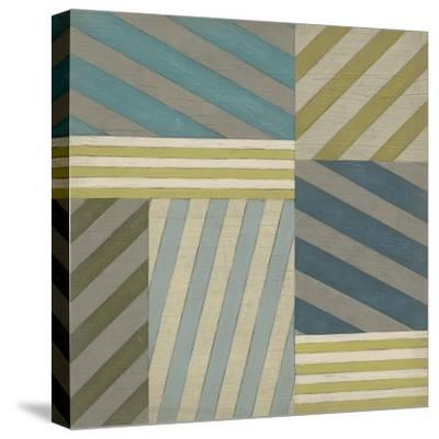 Nautical Stripes II-June Erica Vess-Stretched Canvas Print