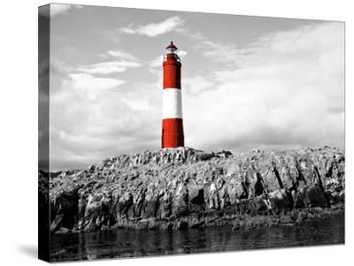 Lighthouse Border-Anna Coppel-Stretched Canvas Print