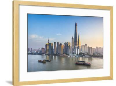 Shanghai Tower and the Pudong Skyline across the Huangpu River, Shanghai, China-Jon Arnold-Framed Photographic Print