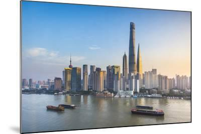 Shanghai Tower and the Pudong Skyline across the Huangpu River, Shanghai, China-Jon Arnold-Mounted Photographic Print