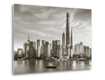 Shanghai Tower and the Pudong Skyline across the Huangpu River, Shanghai, China-Jon Arnold-Metal Print