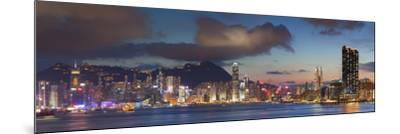 View of Hong Kong Island and Tsim Sha Tsui Skylines at Sunset, Hong Kong-Ian Trower-Mounted Photographic Print