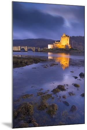 Eilean Donan Castle on Loch Duich at Twilight, Western Highlands, Scotland. Autumn (November)-Adam Burton-Mounted Photographic Print
