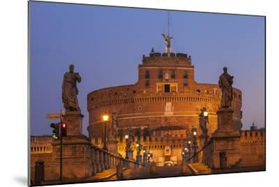 Italy, Lazio, Rome, View of St. Angelo Bridge and Castle St. Angelo (Hadrian's Mausoleum)-Jane Sweeney-Mounted Photographic Print