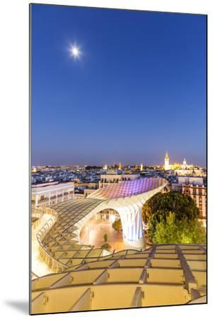 Spain, Andalusia, Seville. Metropol Parasol Structure and City at Dusk-Matteo Colombo-Mounted Photographic Print