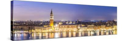 Italy, Veneto, Venice. High Angle View of the City at Dusk-Matteo Colombo-Stretched Canvas Print