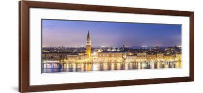 Italy, Veneto, Venice. High Angle View of the City at Dusk-Matteo Colombo-Framed Photographic Print