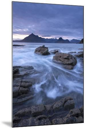 The Black Cuillin Mountains from the Rocky Shores of Elgol, Isle of Skye, Scotland-Adam Burton-Mounted Photographic Print