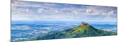 Elevated View Towards Hohenzollern Castle and Sourrounding Countryside, Swabia, Baden Wuerttemberg-Doug Pearson-Mounted Photographic Print