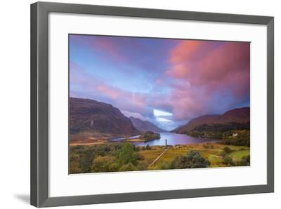 Glenfinnan Monument to the 1745 Landing of Bonnie Prince Charlie at Start of the Jacobite Rising-Alan Copson-Framed Photographic Print