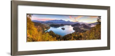 Lake Bled and the Julian Alps Illuminated at Sunrise, Lake Bled, Bled, Upper Carniola, Slovenia-Doug Pearson-Framed Photographic Print