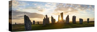 Sunset, Callanish Standing Stones, Isle of Lewis, Outer Hebrides, Scotland-Peter Adams-Stretched Canvas Print