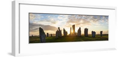Sunset, Callanish Standing Stones, Isle of Lewis, Outer Hebrides, Scotland-Peter Adams-Framed Photographic Print