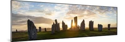 Sunset, Callanish Standing Stones, Isle of Lewis, Outer Hebrides, Scotland-Peter Adams-Mounted Photographic Print