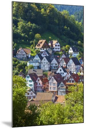 Traditional Half Timbered Buildings in Schiltach's Picturesque Medieval Altstad, Baden-Wurttemberg-Doug Pearson-Mounted Photographic Print