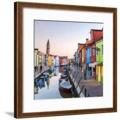 Italy, Veneto, Venice, Burano. Sunset in the Town-Matteo Colombo-Framed Photographic Print