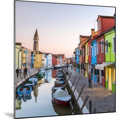 Italy, Veneto, Venice, Burano. Sunset in the Town-Matteo Colombo-Mounted Photographic Print